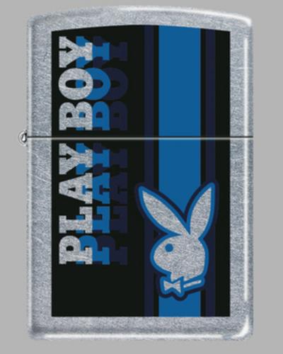 Zippo Playboy Rabbit franjas azules