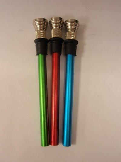 Tubo metal color 12cm+Rosca+Goma+Cazoleta