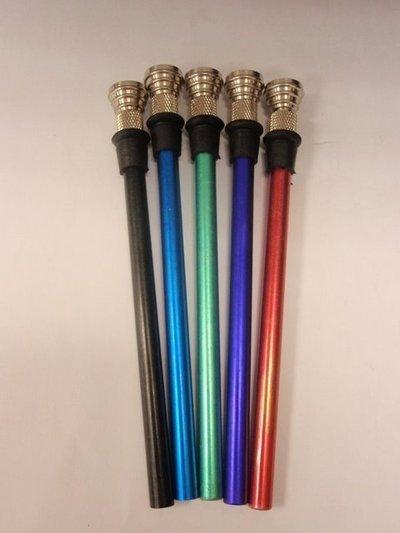 Tubo metal color 16cm+Rosca+Goma+Cazoleta